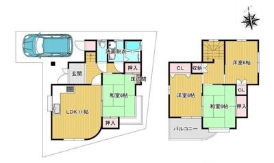 【外観】茨木市太田2丁目リフォーム済み一戸建て住宅