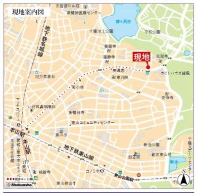 【地図】ライオンズマンション猫洞
