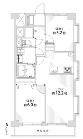 菊川グリーンハイツ:南東角住戸!2LDK新規内装リノベーション物件は住設備も充実した暮らしやすいお部屋となっております♪