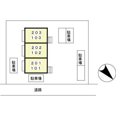 【区画図】カームシティーやすらぎ Ⅱ