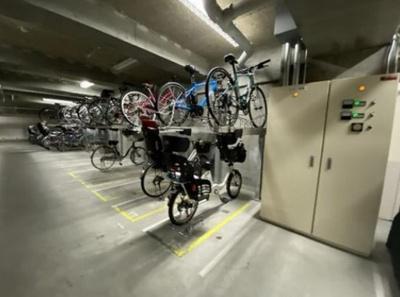 大森プロストシティレジデンスの駐輪場です。