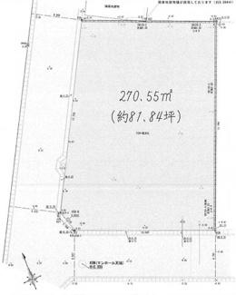 【区画図】売土地