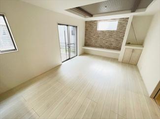 【居間・リビング】草加市花栗1丁目新築戸建て
