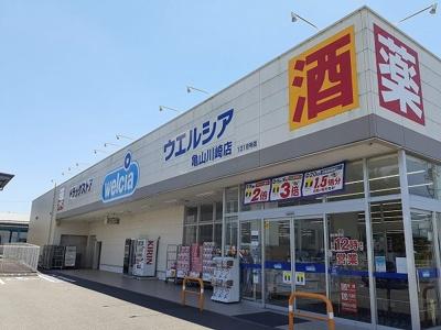 ウエルシア亀山川崎店まで1200m