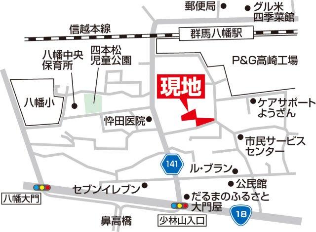 【地図】土地 高崎市藤塚町TH1-⑧