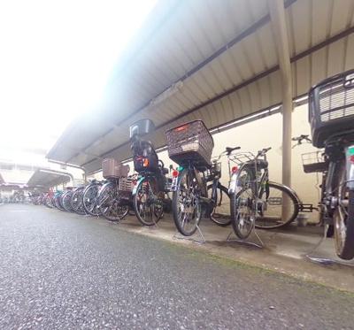 クリオレジダンス東京E棟の駐輪場です。