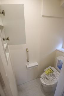 千葉市稲毛区宮野木町 新築一戸建て スポーツセンター駅 収納スペースもあるトイレです!
