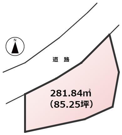 【土地図】新宮町上府北2丁目土地