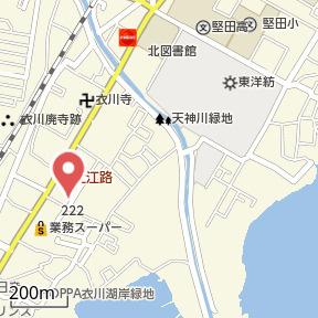 【地図】堅田① 店舗付住宅