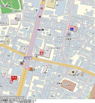 【地図】ラ・レジダンス・ド・千駄木