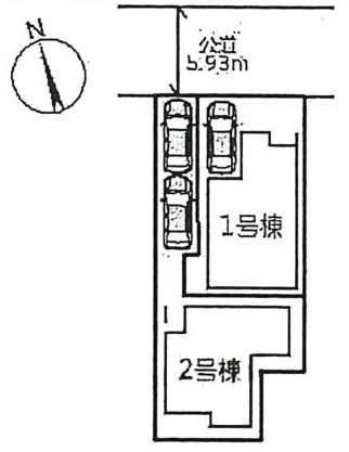 【区画図】上甲子園1丁目 新築戸建(2号地)