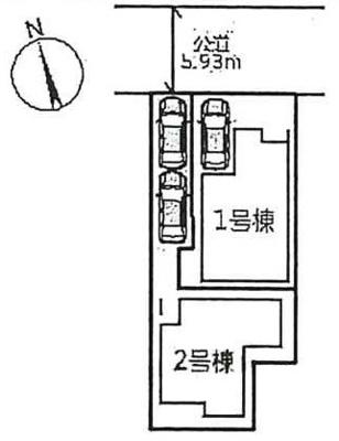 【区画図】上甲子園1丁目 新築戸建(1号地)