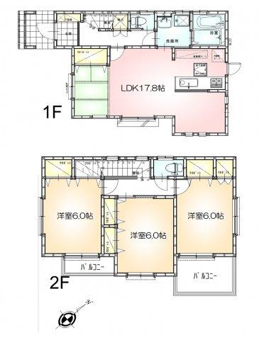 全居室6帖以上の3LDKです。