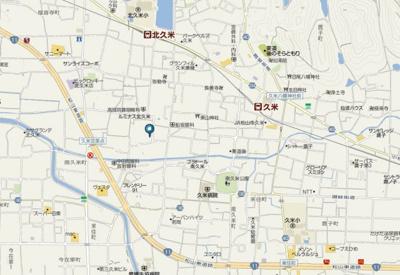 【地図】フレグランス南久米 F棟・