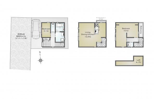 白金の築浅デザイナーズハウス、港区白金6丁目戸建て