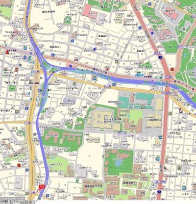 【地図】トーシンフェニックス南麻布