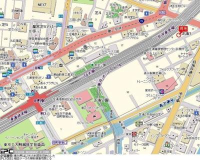 【地図】トーシンフェニックス芝浦ベイフォート