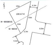 鶴ヶ島市中新田 建築条件なし売地 「一本松駅」徒歩3分 敷地30坪 の画像