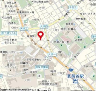 【地図】ガラ・シティ茗荷谷(ガラシテイミヨウガダニ)