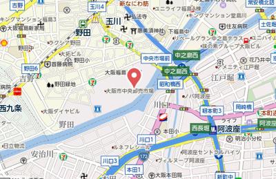 【地図】アーデンタワー新町