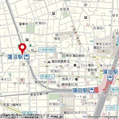 【地図】ヴェルステージ蒲田