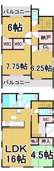 グラファーレ南区弥永2期1号 4LDK