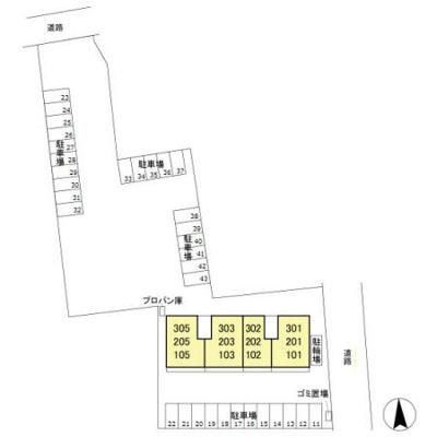 【区画図】バンブーハイム