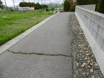 【前面道路含む現地写真】黒石市緑町一丁目土地