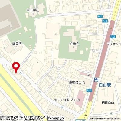 【地図】レジオス文京白山