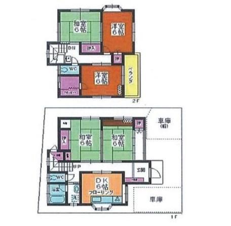 土地面積119.62平米、建物面積99.36平米~南道路に面し日当り良好、全居室6帖以上の大型間取り5DK、駐車スペース2台可