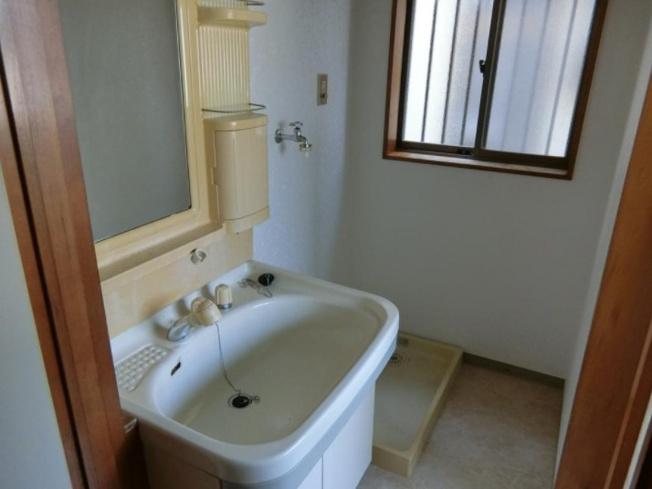 使いやすい洗面所~シャワー付き洗面化粧台、室内洗濯機置き場、脱衣スペース有り