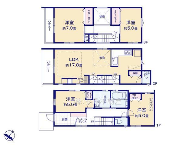 川口市戸塚東2丁目25-16(B号棟)新築一戸建てメルディア