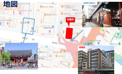 【地図】浅草スクエア