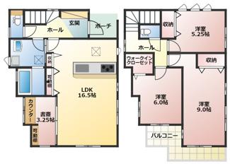 碧南市西浜町3丁目新築分譲住宅2号棟間取りです。