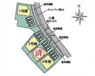 碧南市西浜町3丁目新築分譲住宅全体区画図です。
