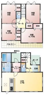 碧南市西浜町3丁目新築分譲住宅4号棟間取りです。