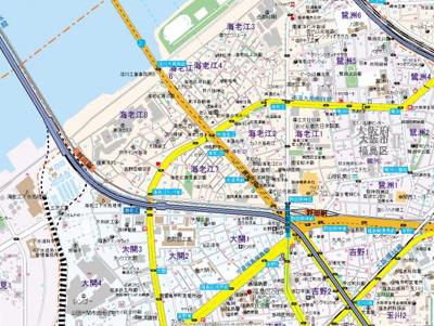 【地図】海老江サンライズ