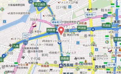 【地図】メゾニティ・クイーン阿波座