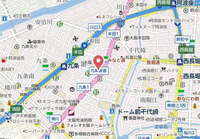 【地図】CITY SPIRE九条Ⅰ