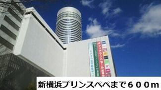 新横浜プリンスペペまで600m
