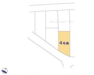 【区画図】新築 新潟市東区中山第2  4号  4LDK
