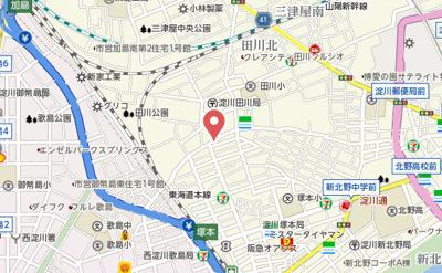 【地図】シティハイツ塚本