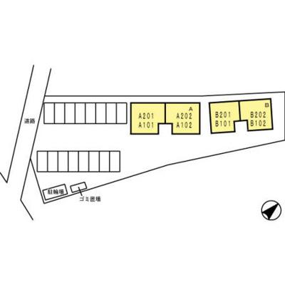 【区画図】ルミエール クリハラA・B B棟