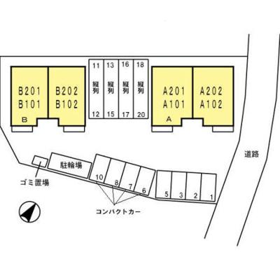 【区画図】グレースコート T棟