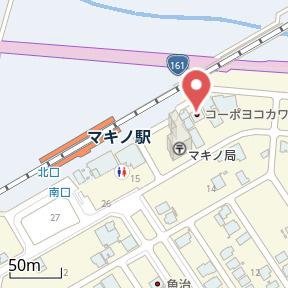 【地図】ぷちはうす マキノ