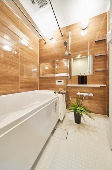 スタイリッシュな浴室 新規交換 ゆったりとご入浴いただけます