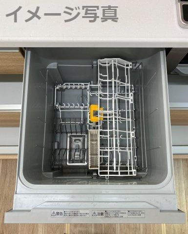 多くの食器が洗えて節水効果もある、ビルトインタイプの食器洗い乾燥機付き!主婦の味方ですね☆