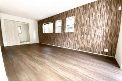 LDKの続きに和室があり、扉を開放すれば約22.5帖のスペースになります。