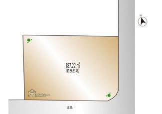 【土地図】大田区山王1丁目 建築条件なし土地