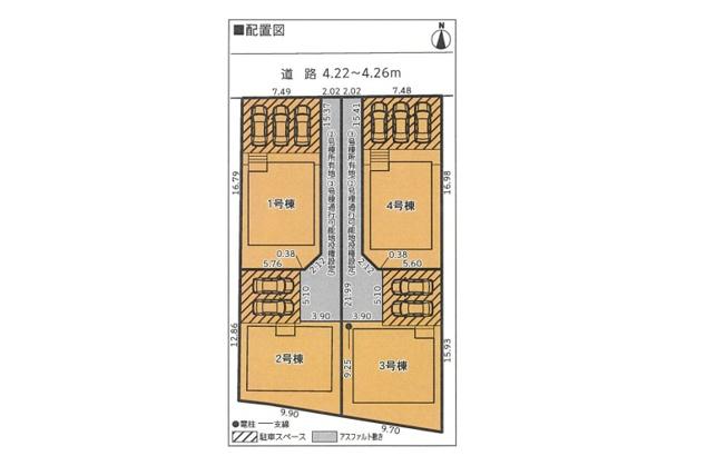 【区画図】沼津市下香貫 全4棟